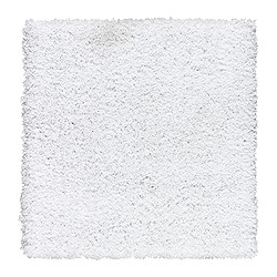 HAMPEN rug, high pile, white Length: 80 cm Width: 80 cm Surface density: 2050 g/m²