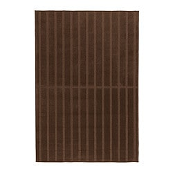 "HERRUP rug, low pile, brown Length: 6 ' 5 "" Width: 4 ' 4 "" Surface density: 5 oz/sq ft Length: 195 cm Width: 133 cm Surface density: 1650 g/m²"