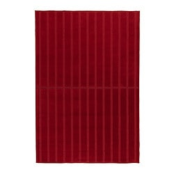 HERRUP rug, low pile, red Length: 195 cm Width: 133 cm Surface density: 1650 g/m²