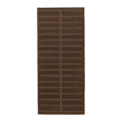 "HERRUP rug, low pile, brown Length: 4 ' 11 "" Width: 2 ' 7 "" Surface density: 5 oz/sq ft Length: 150 cm Width: 80 cm Surface density: 1650 g/m²"