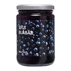 SYLT BLÅBÄR blueberry jam Net weight: 450 g
