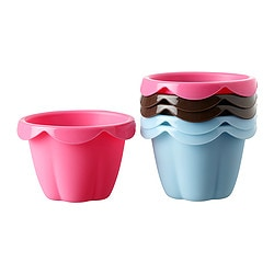 SOCKERKAKA baking cup, assorted colours Length: 5 cm Width: 6 cm Package quantity: 6 pack