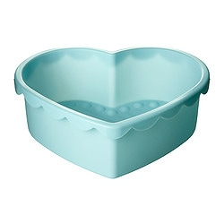 SOCKERKAKA baking mould, heart-shaped light blue Volume: 1.5 l