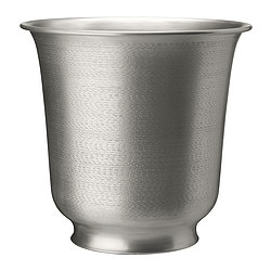 "HASSELNÖT plant pot, silver color Outside diameter: 11 ¾ "" Max. diameter inner pot: 8 ¼ "" Height: 11 ½ "" Outside diameter: 30 cm Max. diameter inner pot: 21 cm Height: 29 cm"