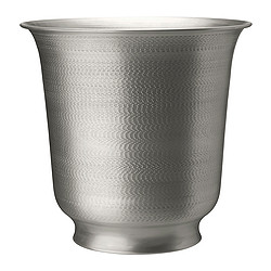 HASSELNÖT plant pot, silver-colour Outside diameter: 39 cm Max. diameter flowerpot: 24 cm Height: 37 cm