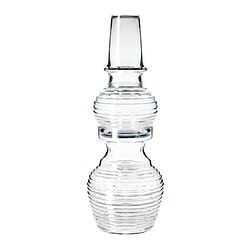 "IKEA PS 2012 vase, set of 2, clear glass Height: 22 ¾ "" Height: 58 cm"