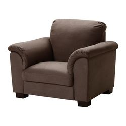 TIDAFORS armchair, Dansbo medium brown Width: 125 cm Depth: 95 cm Height: 99 cm
