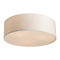 ALÄNG ceiling lamp, white Diameter: 45 cm Height: 15 cm