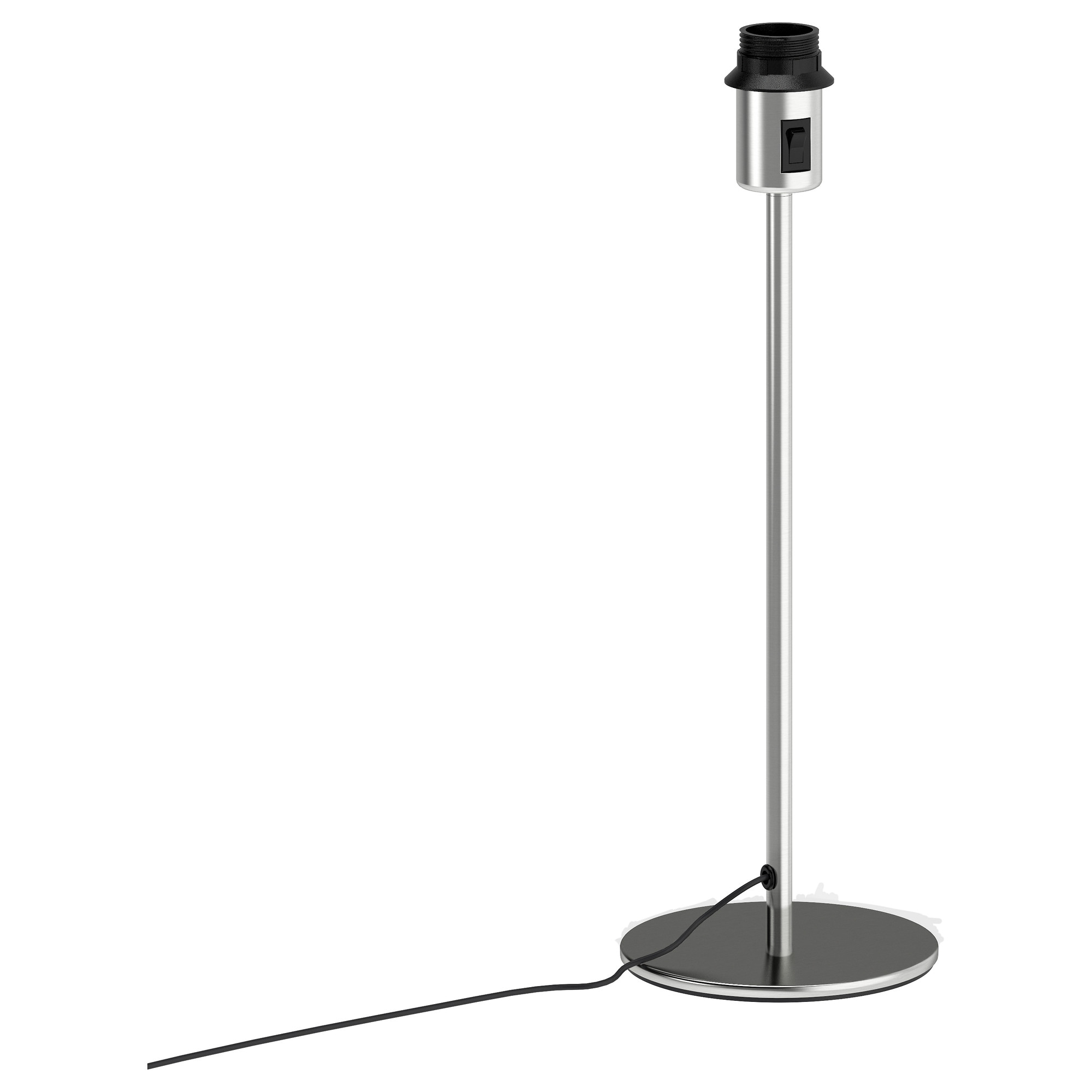 Black Table Lamp Base: RODD table lamp base with LED bulb, nickel plated Height: 18