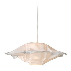 "VARMLUFT shade, square off-white Length: 26 "" Height: 10 "" Length: 66 cm Height: 25.5 cm"