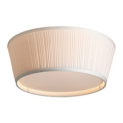 ÅRSTID ceiling lamp, white Height: 17 cm Diameter: 46 cm