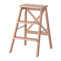 BEKVÄM, Stepladder, 3 steps, beech