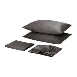 GÄSPA sheet set, dark gray