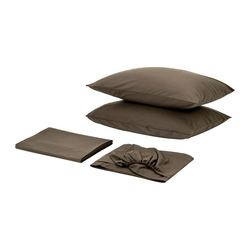 SÖMNIG sheet set, brown