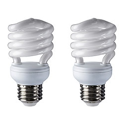 SPARSAM low-energy bulb E26, spiral Power: 13 W Package quantity: 2 pack Power: 13 W Package quantity: 2 pack