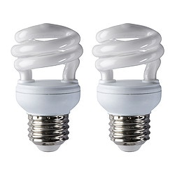 SPARSAM low-energy bulb E26, spiral Power: 9 W Package quantity: 2 pack Power: 9 W Package quantity: 2 pack