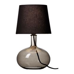 "LJUSÅS UVÅS table lamp, gray Height: 17 "" Base diameter: 9 "" Shade diameter: 9 "" Height: 42.0 cm Base diameter: 23 cm Shade diameter: 24 cm"