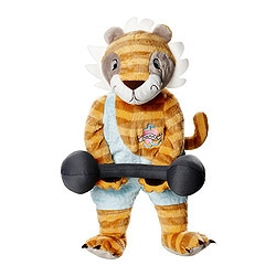 KLAPPAR CIRKUS soft toy, tiger Length: 45 cm