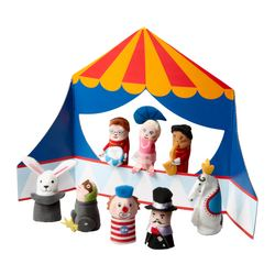 KLAPPAR CIRKUS 9-piece fingerpuppets w accessories