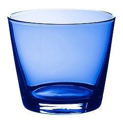 "DIOD glass, blue Height: 3 "" Volume: 8 oz Height: 8 cm Volume: 25 cl"