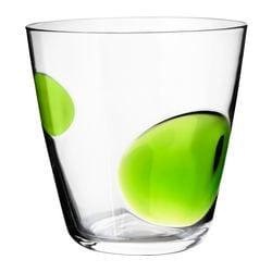 "FABULÖS glass, green Height: 4 "" Volume: 10 oz Height: 9 cm Volume: 30 cl"