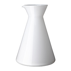 LEENDE carafe, white Height: 20 cm Volume: 1.2 l