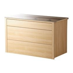 KOMPLEMENT interior chest of drawers, birch Frame, width: 99.8 cm Frame, depth: 58.0 cm Depth of drawer: 45 cm