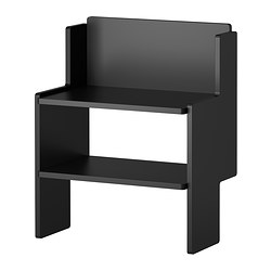 IKEA PS 2012 bench with shoe storage, black Width: 52 cm Depth: 33 cm Height: 65 cm