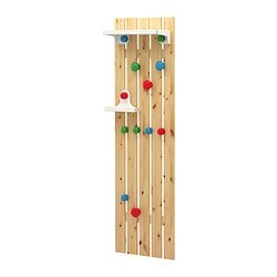 "IKEA PS 2012 hat and coat rack, assorted colors Width: 19 5/8 "" Depth: 9 1/2 "" Height: 70 7/8 "" Width: 50 cm Depth: 24 cm Height: 180 cm"