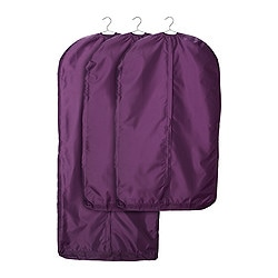 SKUBB clothes cover, set of 3, lilac