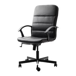 TORKEL swivel chair, black Tested for: 110 kg Width: 59 cm Depth: 65 cm