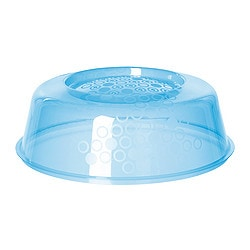 PRICKIG microwave lid, blue Diameter: 26 cm Height: 9 cm