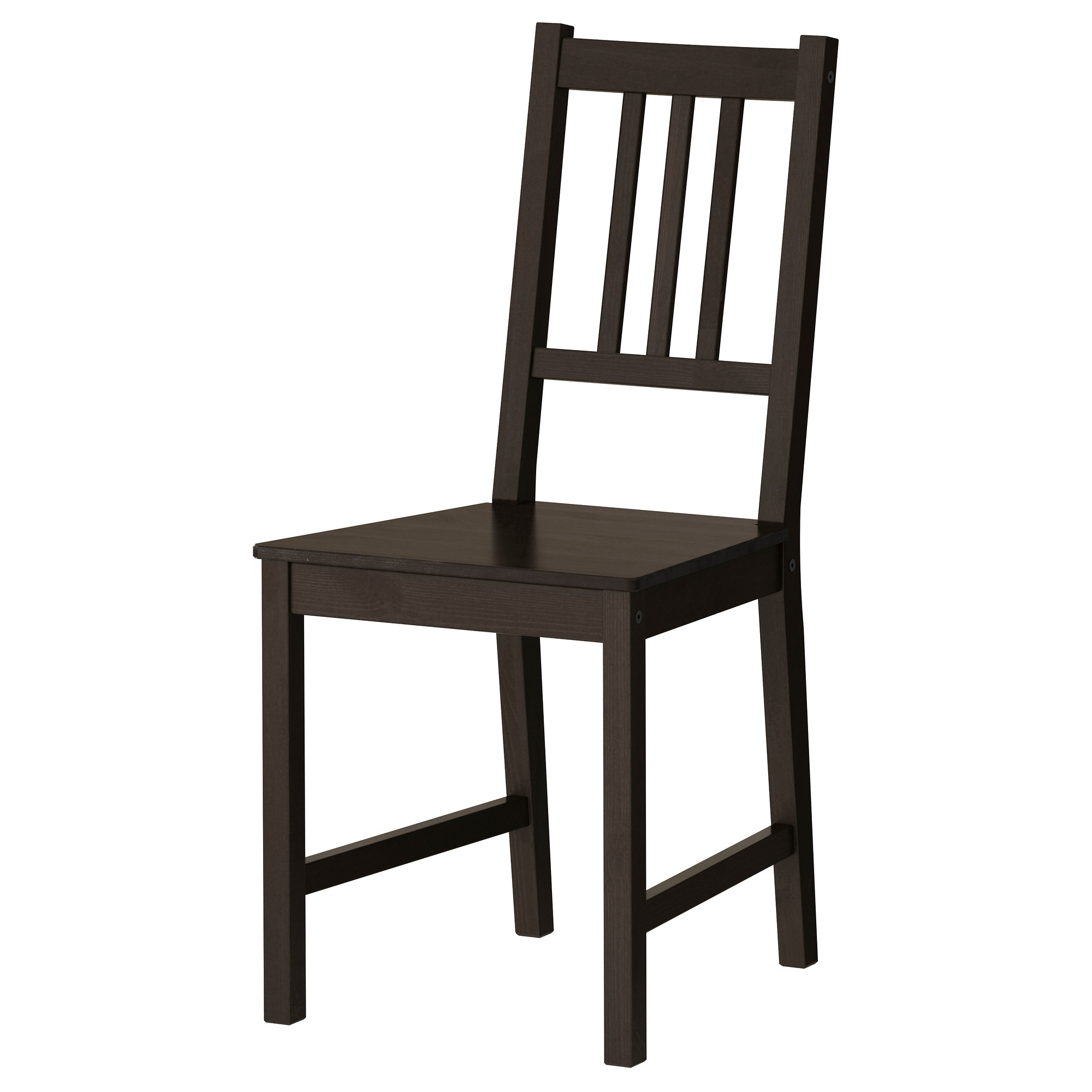 Black chair and white chair - Stefan Chair Brown Black Tested For 243 Lb Width 16 1