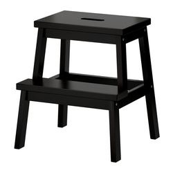 BEKVÄM, Step stool, black
