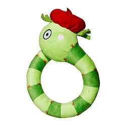 "TORVA rattle, green Length: 6 "" Length: 14 cm"