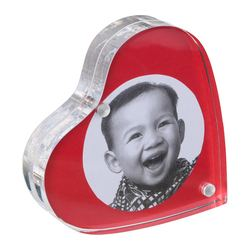 FINLIR picture holder, transparent Width: 10 cm Height: 10 cm Thickness: 2 cm