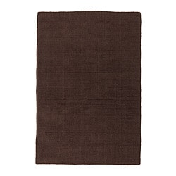 "ALMSTED rug, low pile, brown Length: 7 ' 10 "" Width: 5 ' 7 "" Surface density: 11 oz/sq ft Length: 240 cm Width: 170 cm Surface density: 3290 g/m²"