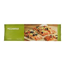 PIZZABITAR pizza slice, vegetarian, frozen Net weight: 1.54 lb Net weight: 700 g