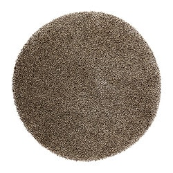 "BÄLUM rug, high pile, beige Diameter: 51 "" Surface density: 11 oz/sq ft Pile coverage: 7.54 oz/sq ft Diameter: 130 cm Surface density: 3250 g/m² Pile coverage: 2300 g/m²"