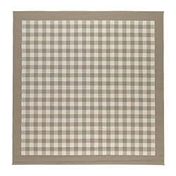 "MILLINGE rug, low pile, beige Length: 6 ' 7 "" Width: 6 ' 7 "" Surface density: 6 oz/sq ft Length: 200 cm Width: 200 cm Surface density: 1700 g/m²"