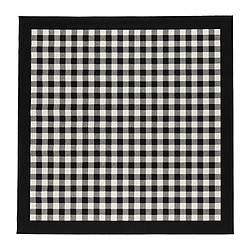 MILLINGE rug, low pile, black Length: 200 cm Width: 200 cm Surface density: 1700 g/m²