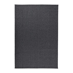 MORUM rug, flatwoven, dark grey Length: 230 cm Width: 160 cm Surface density: 1385 g/m²