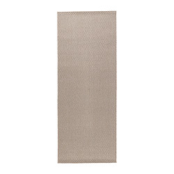 "MORUM rug, flatwoven, beige Length: 6 ' 7 "" Width: 2 ' 7 "" Surface density: 5 oz/sq ft Length: 200 cm Width: 80 cm Surface density: 1385 g/m²"