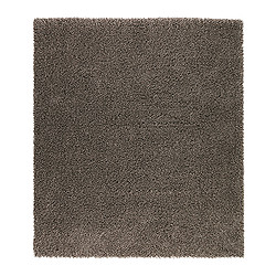SKÅRUP rug, high pile, brown Length: 230 cm Width: 200 cm Surface density: 3700 g/m²