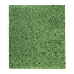 "SKÅRUP rug, high pile, green Length: 7 ' 7 "" Width: 6 ' 7 "" Surface density: 12 oz/sq ft Length: 230 cm Width: 200 cm Surface density: 3700 g/m²"