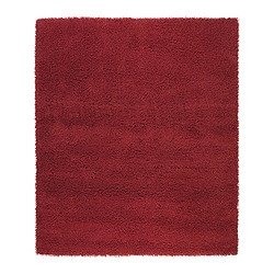 "SKÅRUP rug, high pile, red Length: 7 ' 7 "" Width: 6 ' 7 "" Surface density: 12 oz/sq ft Length: 230 cm Width: 200 cm Surface density: 3700 g/m²"