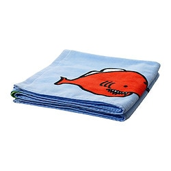 "SVALEN bath towel, multicolor Length: 55 "" Width: 28 "" Surface density: 1.38 oz/sq ft Length: 140 cm Width: 70 cm Surface density: 420 g/m²"