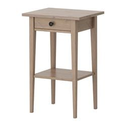 HEMNES bedside table, grey-brown Width: 46 cm Depth: 35 cm Depth of drawer: 23 cm
