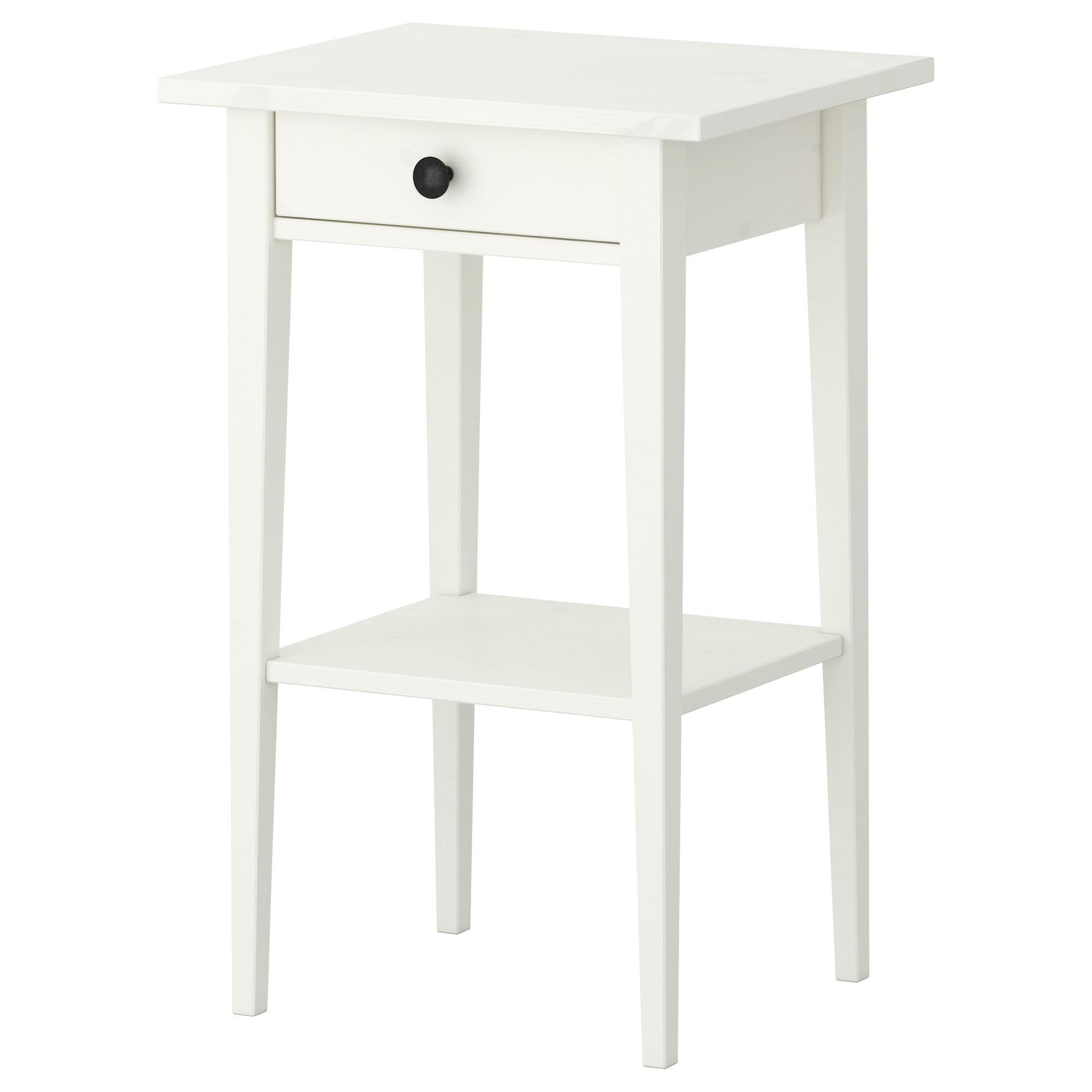 White side tables with drawers - Hemnes Nightstand White Stain Width 18 1 8 Depth 13 3