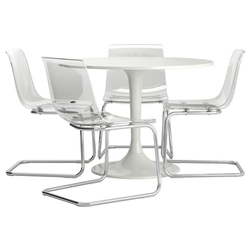 IKEA DOCKSTA / TOBIAS Table and 4 chairs